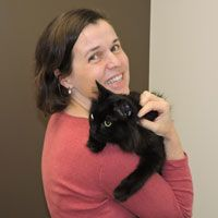 kathy with black cat